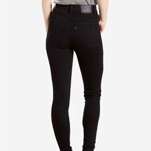 Levi's Mile High Super Skinny Jeans - Black - 25